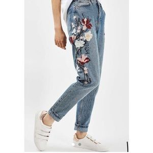 topshop embroidered mom jeans!!!
